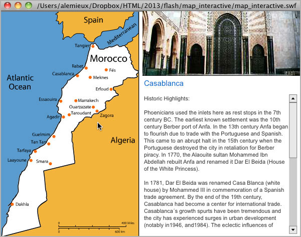 Gateway 2 Morocco Interactive Map
