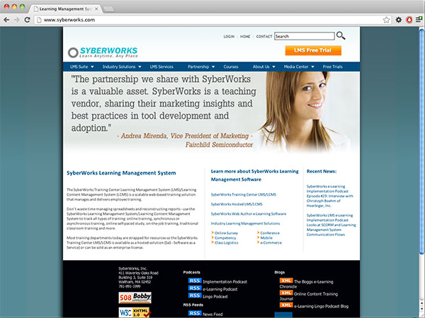 SyberWorks Website Design
